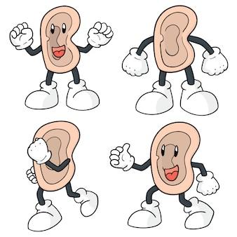 耳漫画のセット