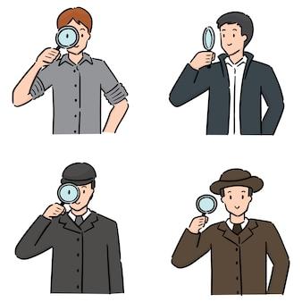 探偵のセット