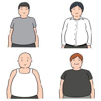 太った人のセット