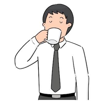 男の飲み物のベクトルセット