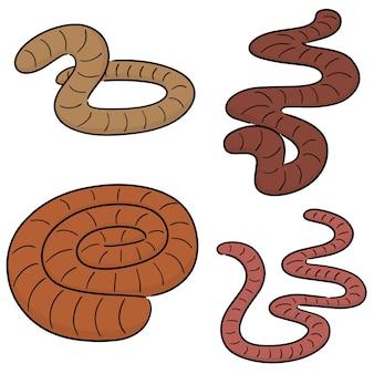 Векторный набор червей