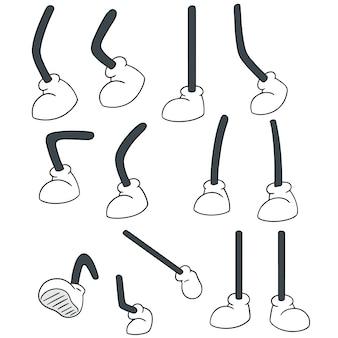 Набор мультяшных ног