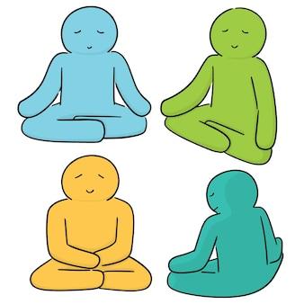 瞑想のベクトルセット