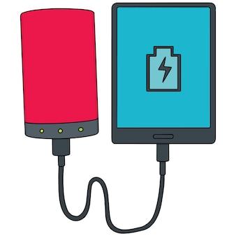 パワーバンク経由のスマートフォンチャージのセット