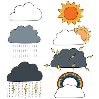 天気のベクトルセット