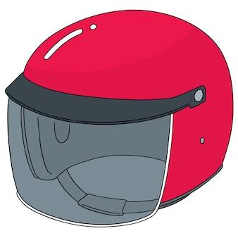 オートバイヘルメットのベクトルセット