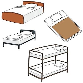 ベッドのベクトルセット