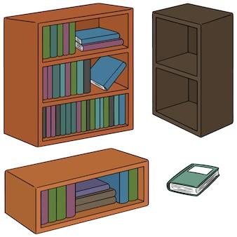 本棚のベクトルセット