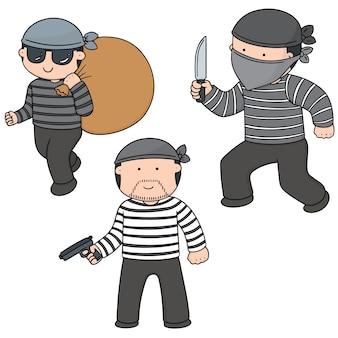 泥棒のベクトルセット