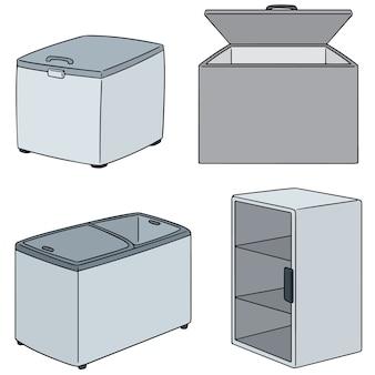 冷凍庫のベクトルセット