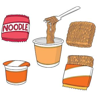 麺のベクトルセット