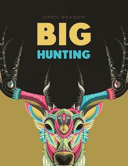 ハンタークラブまたは狩猟オープンシーズンポスター