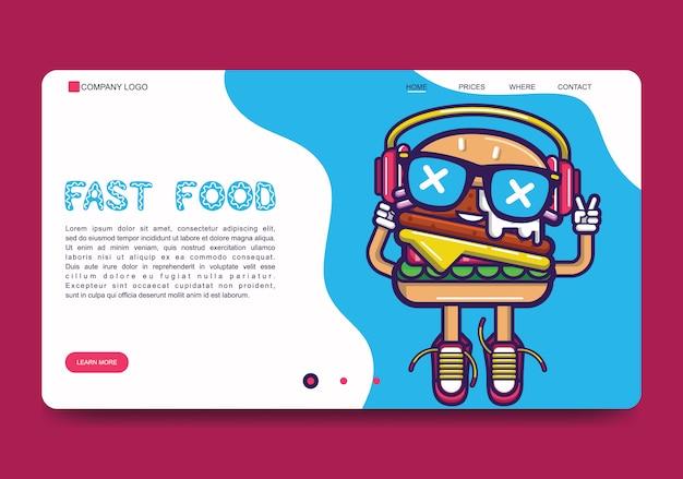 Фаст-фуд веб-баннер