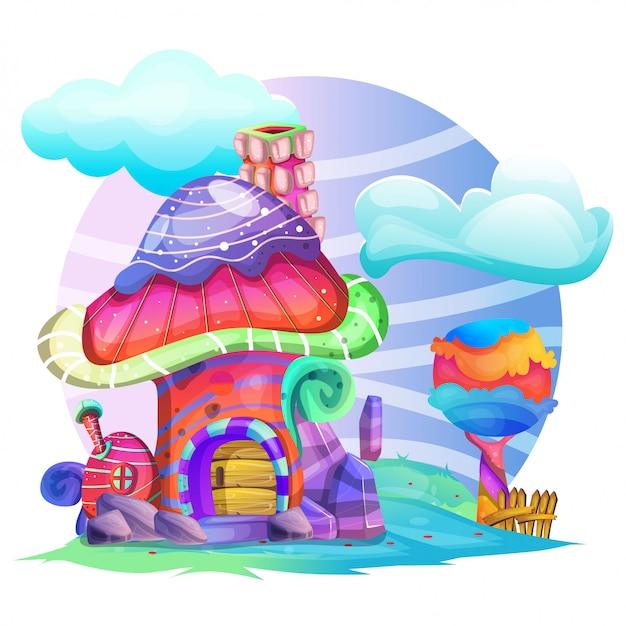 きのこの家のイラスト
