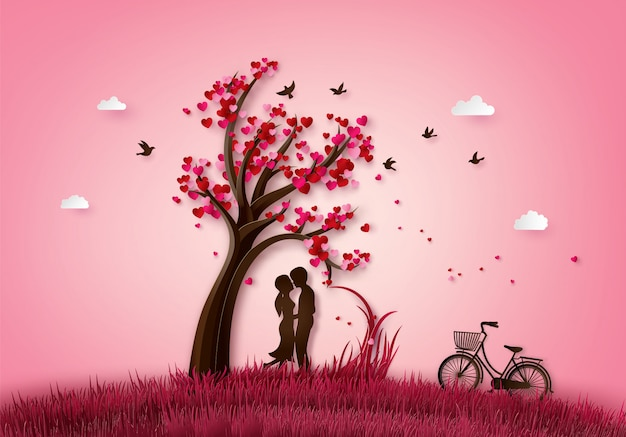 愛とバレンタインの日のイラスト