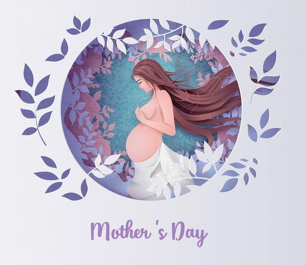 幸せな母の日グリーティングカード。
