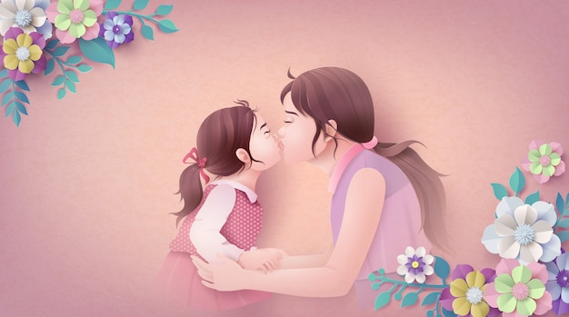 幸せな母の日イラスト