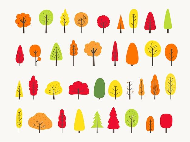 カラフルな木コレクション秋の挨拶