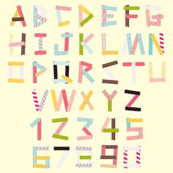 Заглавная буква и номер набора