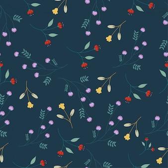 かわいい花シームレスなパターン