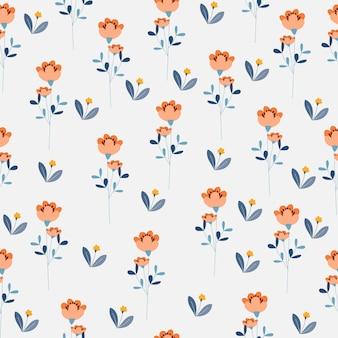 Оранжевый и желтый цветок бесшовный фон