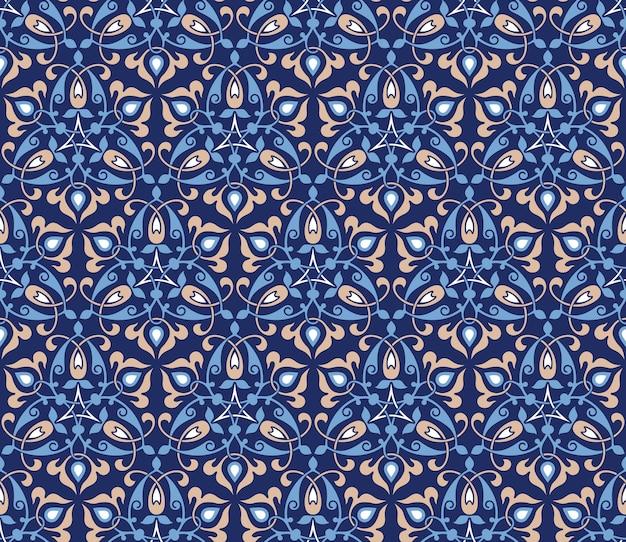 Традиционный арабский декор на синем фоне