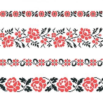 ウクライナの古い刺繍と模様