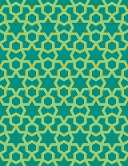 アラビア風の抽象的なシームレスパターン