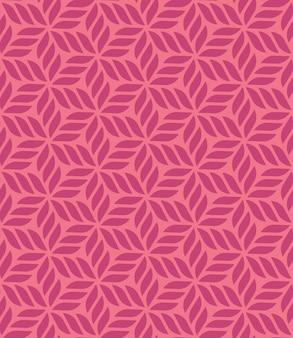 Цветочный геометрический бесшовный узор