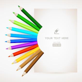 紙で色鉛筆