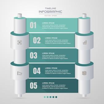 Шаблон оформления инфографики с бизнес иконы