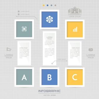 アイコンとインフォグラフィックテンプレート