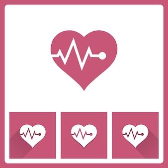 Значок пульса сердца