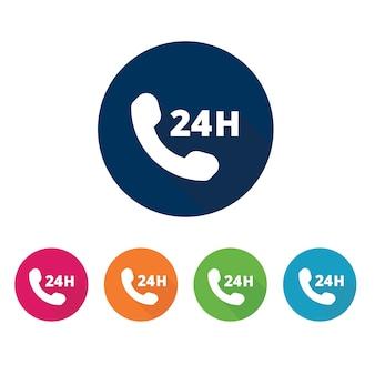 Контакт и телефонный звонок. набор значков