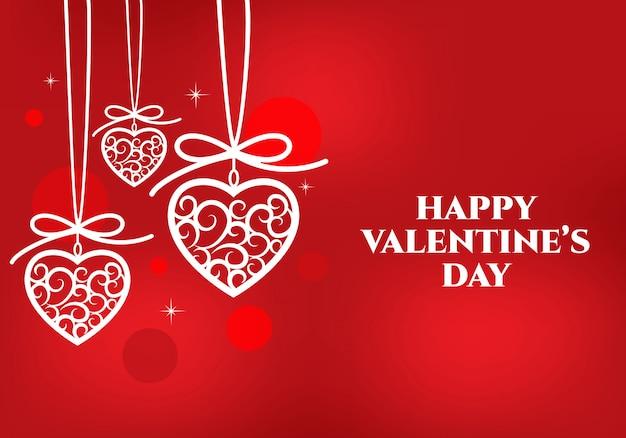 Счастливый день святого валентина сообщение дизайн карты.
