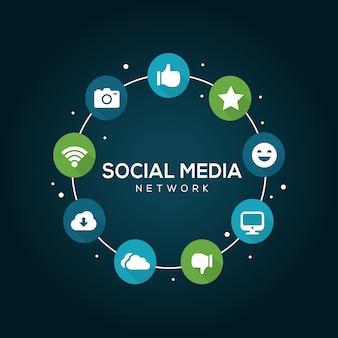 Фоновая социальная сеть