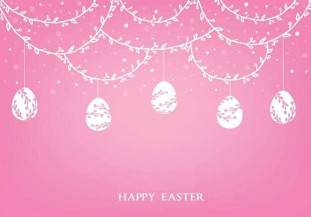 Счастливой пасхи фон. праздник весны баннер иллюстрация с