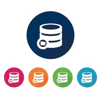 Значок базы данных. символ хранения