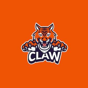 Спортивный логотип тигр