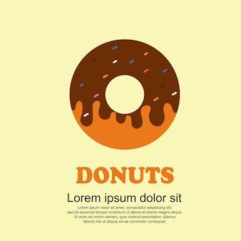 古典的な料理漫画セット、ビッグドーナッツ
