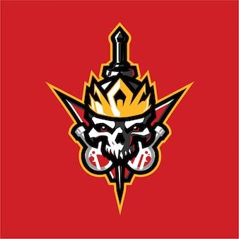 Череп алхимика талисман логотип