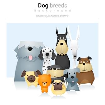 Животный фон с собаками
