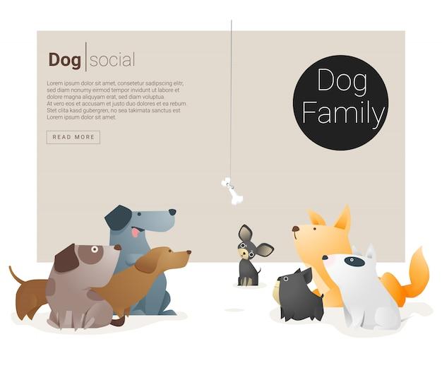 Животное знамя с собаками