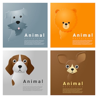 Коллекция портретов животных с собаками