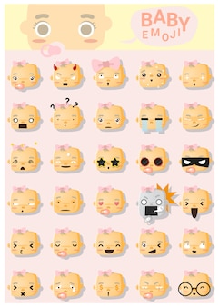 赤ちゃん絵文字アイコン