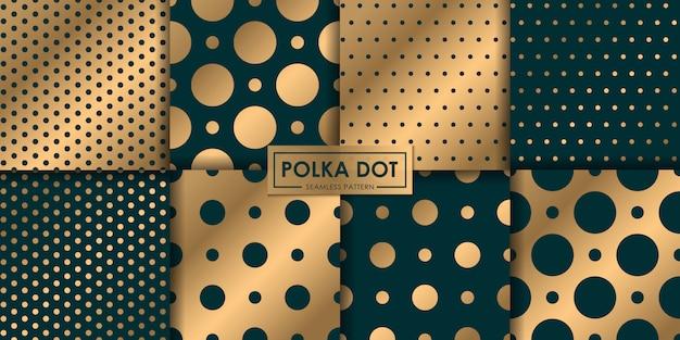 Коллекция шаблонов роскошный полкадот бесшовные, абстрактный фон, декоративные обои.