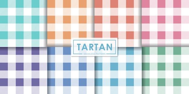 Пастель тартан бесшовные модели коллекции, декоративные обои.