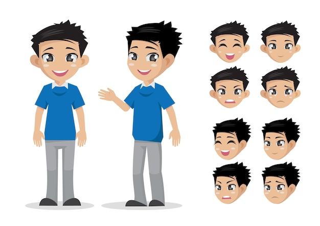 Мальчик лицом, спереди, сбоку.