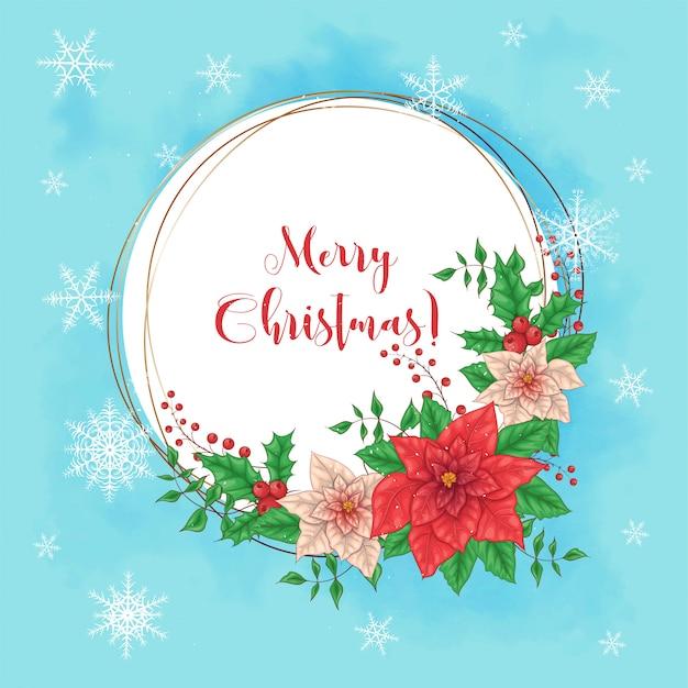クリスマスポインセチアの花輪