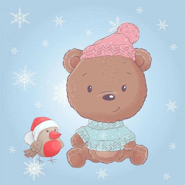 ウソとかわいい漫画クリスマスクマ。